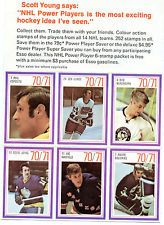 1970-71 ESSO NHL POWER PLAYER Uncut Packet Panel of 6-Esposito