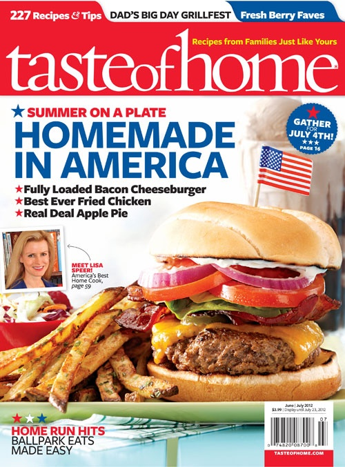 Taste of Home June/July 2012. Click on the cover image to try a free issue! #tasteofhome #july4th: Taste Of Home, Free, Subscription, Food, Recipes, Magazines, Tasteofhome, Favorite, 1 Year