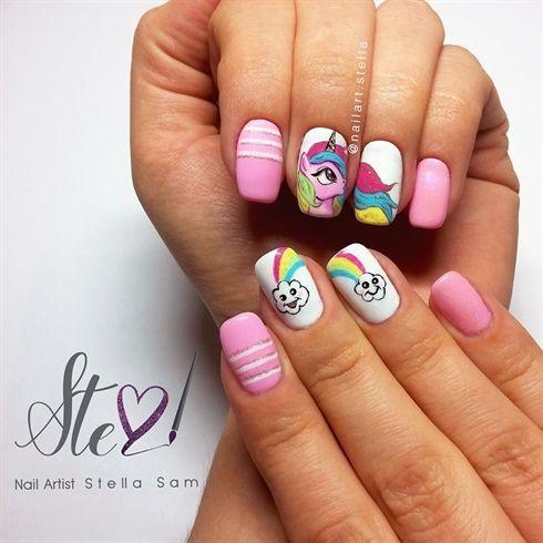 45 Best Unicorn Nail Art Images On Pinterest Nails Amp