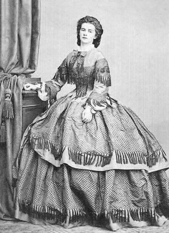 Königin Marie beider Sizilien, geborene Herzogin in Bayern. Tochter von Herzog Max in Bayern und Prinzessin Ludovika von Bayern - 1862