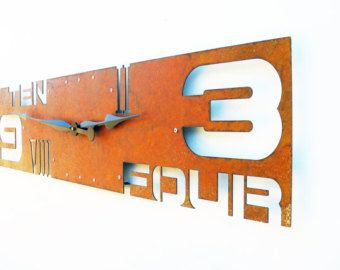 Outnumbered IV, Extra Large Wall Clock, Rustic Wall Clock, Unique Wall Clock, Modern Home Decor, Steampunk Metal Art, Industrial, Big, Giant