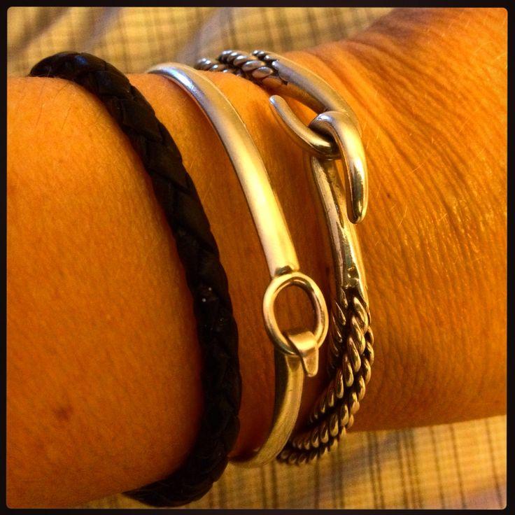 My left wrist - silver bangles