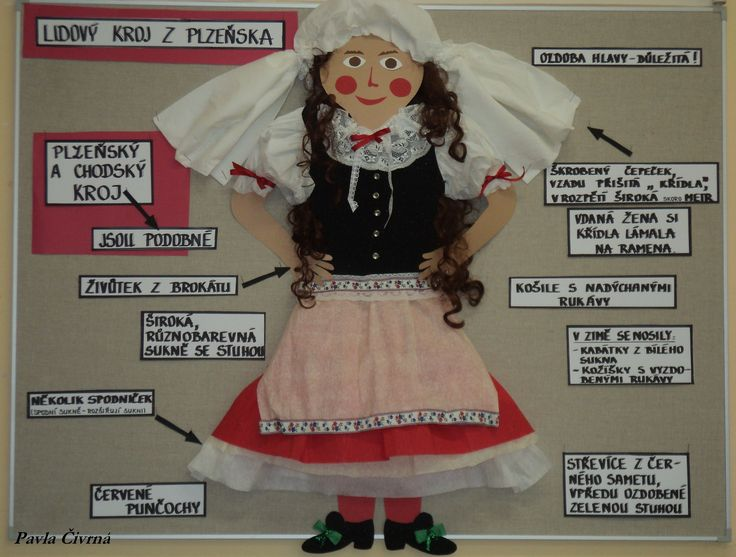 "Plzeňský kraj - Lidový kroj (""pokus o kroj"" - podle popisu na internetu :)"