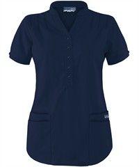 Butter-Soft+Scrubs+by+UA and trade;+Mandarin+Collar+4-Pocket+Top