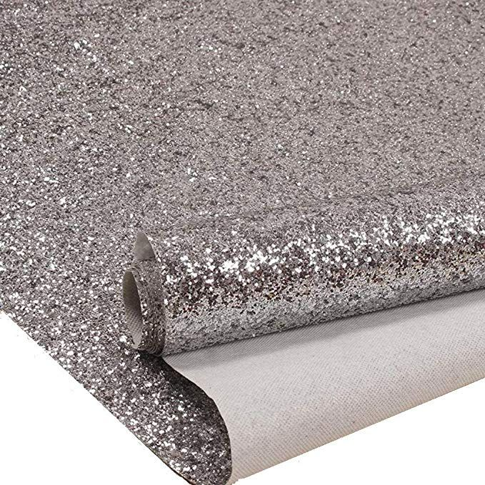 100 X25 Brand New And High Quality Material X3a Glitter Application X3a Self Adhesive Colour X3a Silver Glitter Stairs Wallpaper Border Glitter Fabric