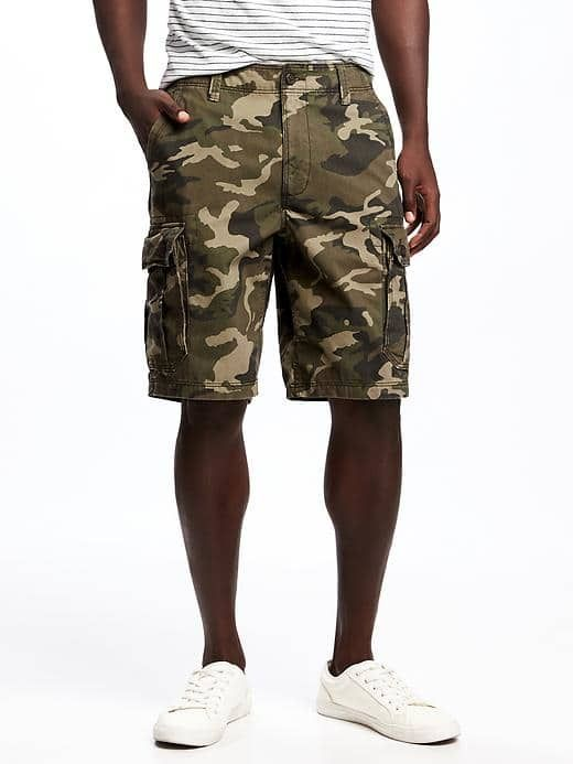"Broken-In Cargo Shorts for Men (10"")"