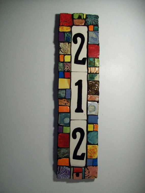 Handmade Custom Ceramic House Number Tile by JandRDesigns on Etsy, $58.00