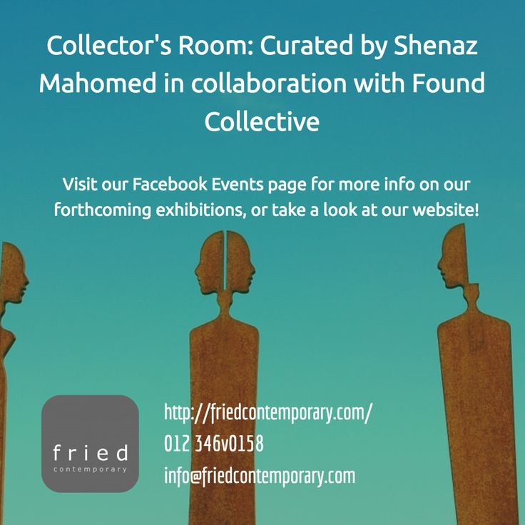 Collector's Room exhibition by Shenaz Mahomed in collaboration - Found Collective #pretoria #art #exhibitions www.friedcontemporary.com