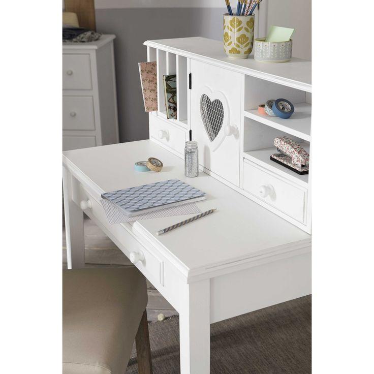 236 best romantique images on pinterest parfait chambre for Bureau romantique blanc