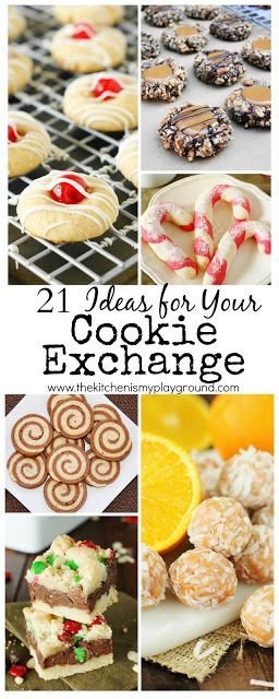 21 Cookie Exchange Ideas ~ these Christmas treats will be the hit of any get-together! www.thekitchenismyplayground.com