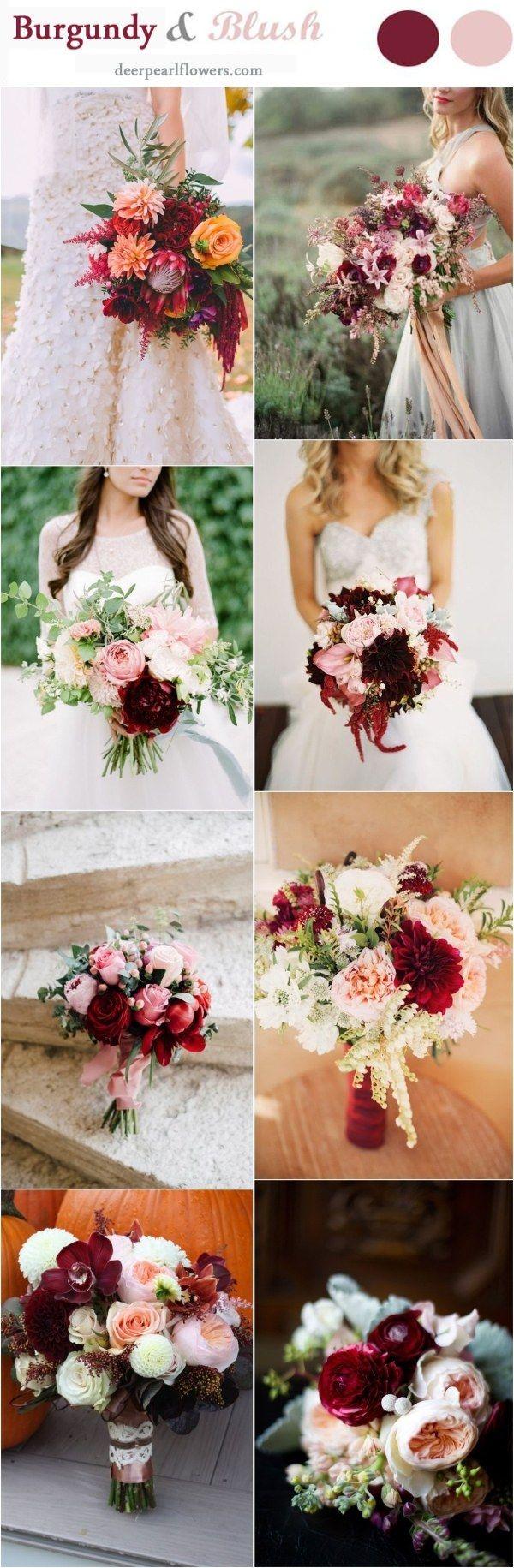 Burgundy and Blush Fall Wedding Ideas / http://www.deerpearlflowers.com/burgundy-and-blush-fall-wedding-ideas/