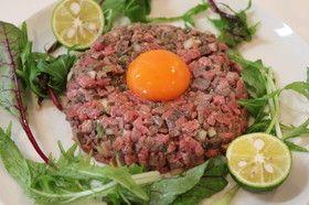ローストビーフで♡牛肉のタルタルステーキ