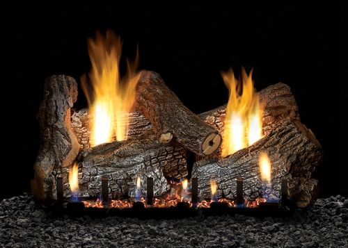 White Mountain Hearth Sassafras Log Set Choice Of Vented Burner