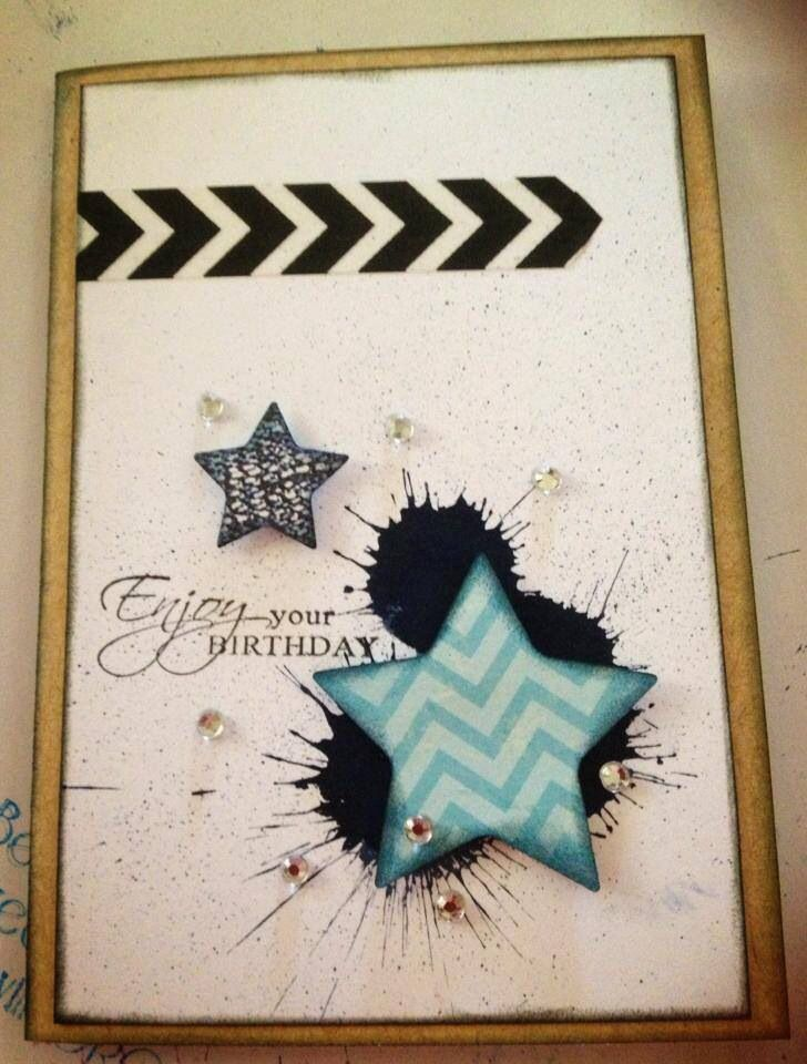 Card designed by Allara Bamforth. Kaszazz, distress stains.