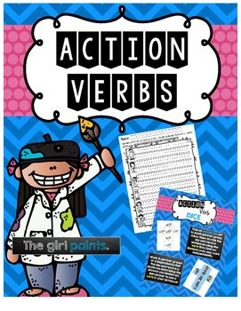 This pack exercises the ability to recognize and use action verbs appropriately. Within this pack, you will find:- Standards Poster- Action Verbs Anchor Chart- Action Verb Example/Non-Example Tree Map Cut & Paste- Action Verb Dice Activities- Recording Sheets- Print and Go worksheets that can be used as homework extensions, word work, or assessmentsThank you for downloading!