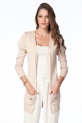 Büyük Sezon İndirimi · Kadın & Erkek Tekstil - Bej Bayan Hırka O&O-5K134024 %60 indirimle 19,99TL ile Trendyol da