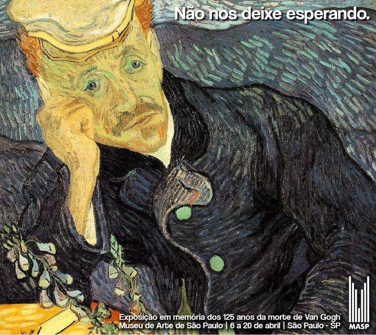Matrícula: 363039 || Exposição em memória dos 125 anos da morte de van Gogh. Quadro: Retrato de Dr. Gachet, de Van Gogh.