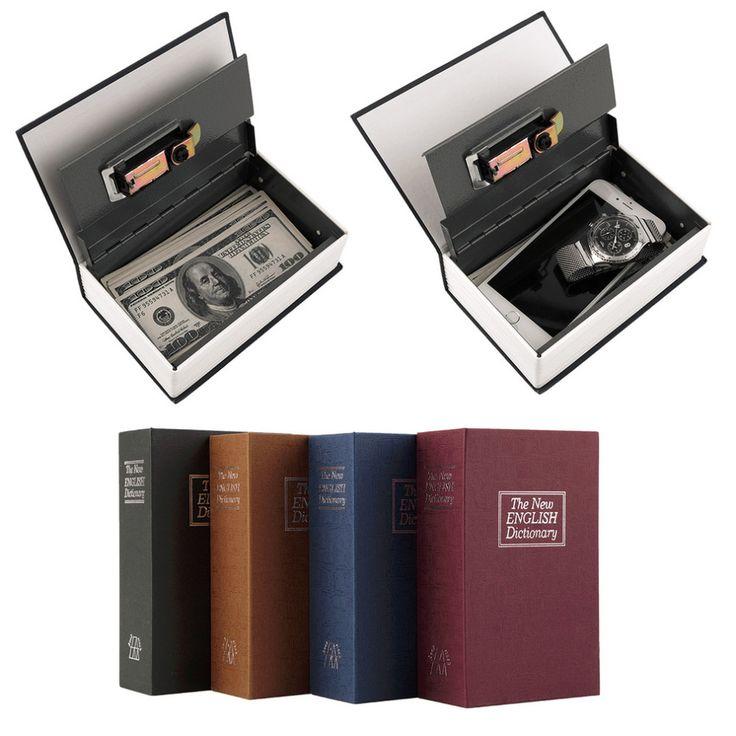 Popular safe Box Dictionary Secret Book Money Hidden Secret Security Safe Lock Cash Money Coin Storage Jewellery key Locker