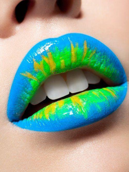 multi color lipstick
