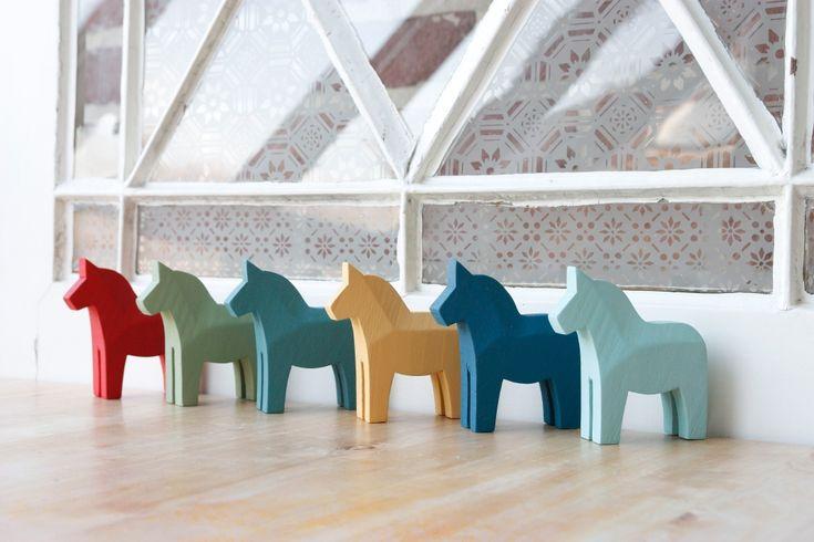 Dala horses in Miss Mustard Seed's Milk Paint - Dala Muses