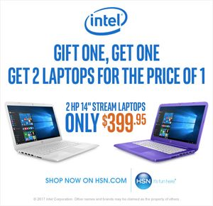 "Intel/HSN Today's Special: (2) HP 14"" Stream Laptops for only $399.95 - https://freebiefresh.com/intelhsn-todays-special-2-hp-14-stream-laptops-for-only-399-95/"