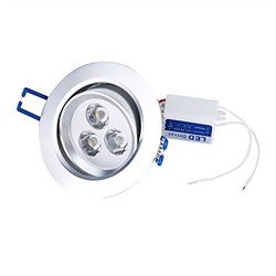 3w white led cabinet recessed ceiling spot light downlight bulb lamp driver 12v