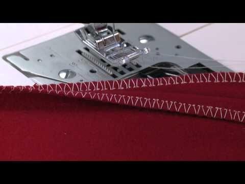 SINGER® Overcast Presser Foot Tutorial - YouTube