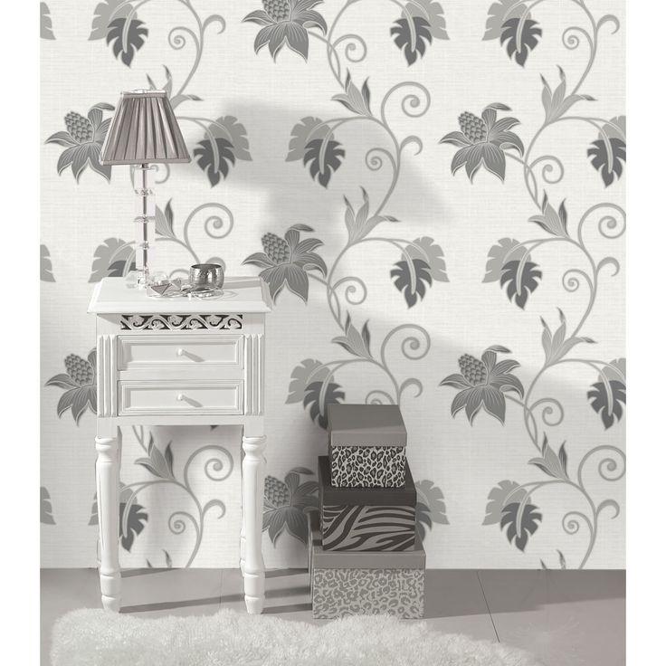 Holden K2 Dominica Black/White Wallpaper 75640