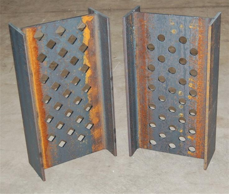 Travi alveolari in acciaio by CMM, taglio, foratura, scantonatura e asolatura di travi in acciaio.