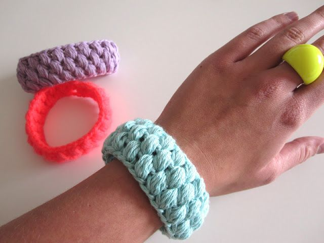 The Funky Fox: DIY - Hæklede sommer-armbånd