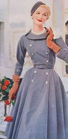 1950s coatdress- perfect for winter fashion!