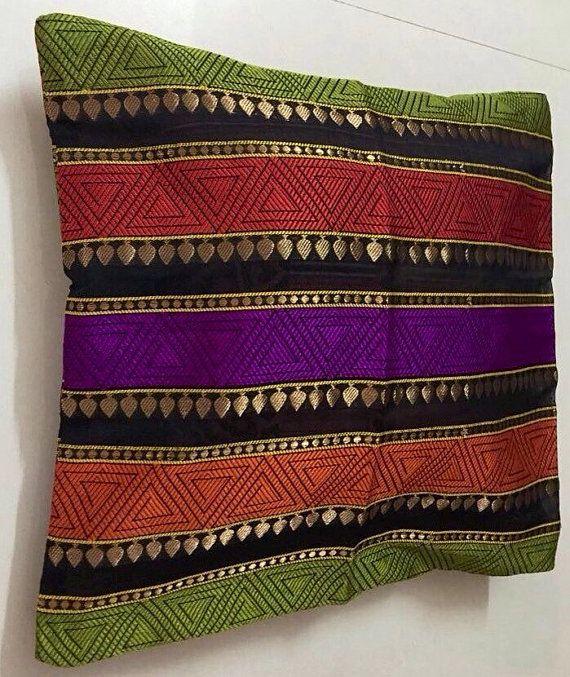 Silk Multicoloured Cushion Cover