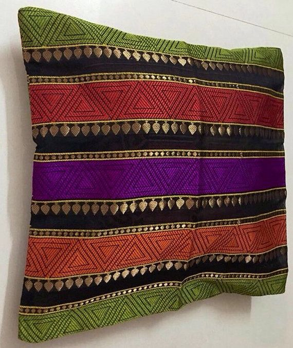 Silk Multicoloured Cushion Cover