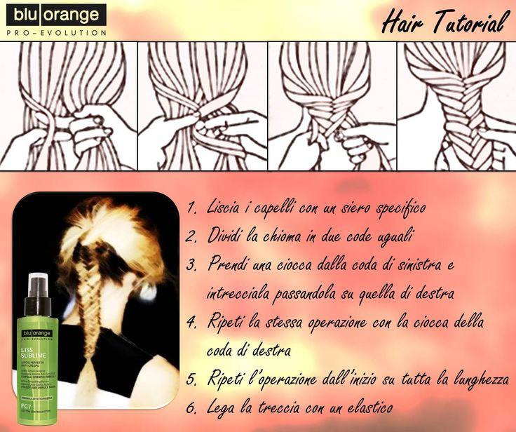 Treccia a spina di pesce #hairtutorial #bluorange #hair #beauty #look #style #treccia  https://www.facebook.com/BluOrange.Capelli.Corpo/photos/pb.186376508073381.-2207520000.1417603588./871760699534955/?type=3&theater