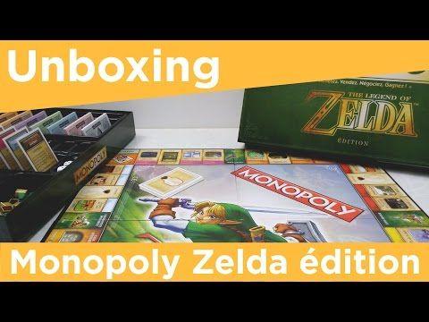 Unboxing du Monopoly Zelda - Youtube