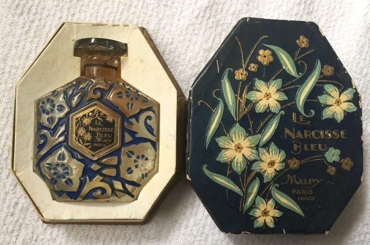 Le narcisse bleu Mury, ancien flacon de parfum dans sa boite, rare modèle 1920 | eBay