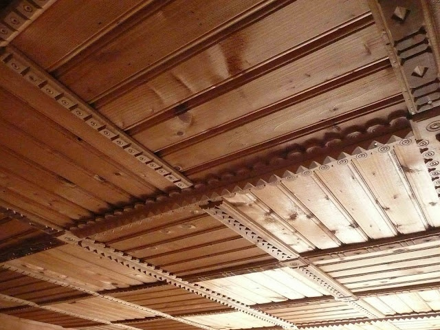 Wooden Ceiling of a house in Carpathian Mountains, western Ukraine  #Ukraine #Ukrainian #Carpathians