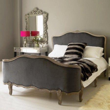 Bed, grey