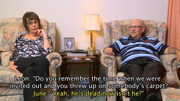 """And sometimes they come out with something utterly baffling, like this exchange during a documentary about nightclub bouncers. 