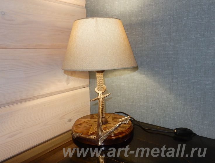 Wrought iron table lamp. Rose of Wind . Oak. Epoxy resin.