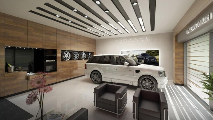 Personal car showroom thai green wheels building for Car showroom exterior design
