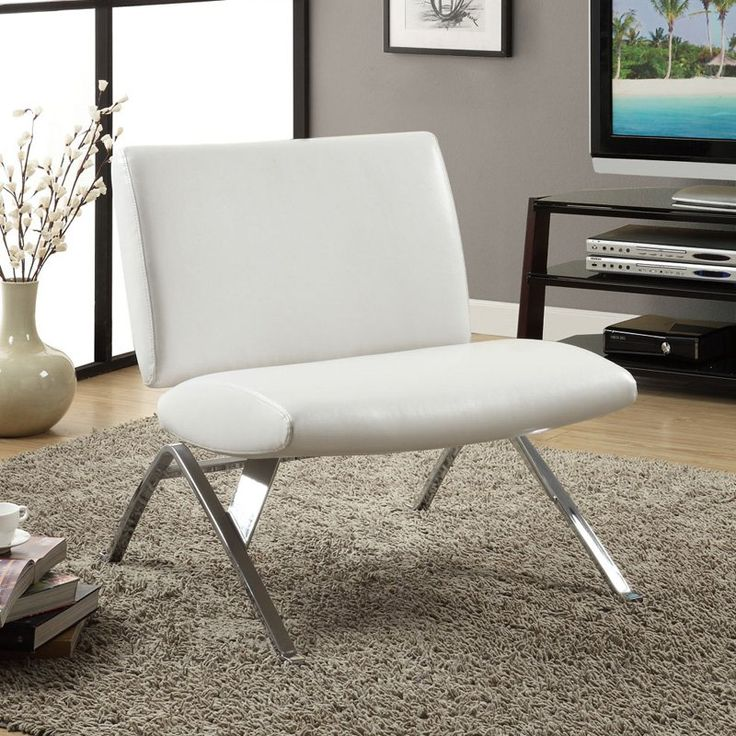 Monarch Faux Leather and Chrome Modern Accent Chair - White - The Monarch  Faux Leather and - 25+ Best Ideas About Modern Accent Chairs On Pinterest Pink