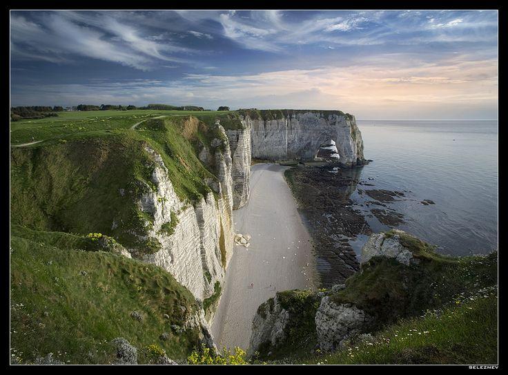 The northern coast of Normandie