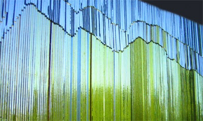 Glass art by Marianne Aittoniemi.