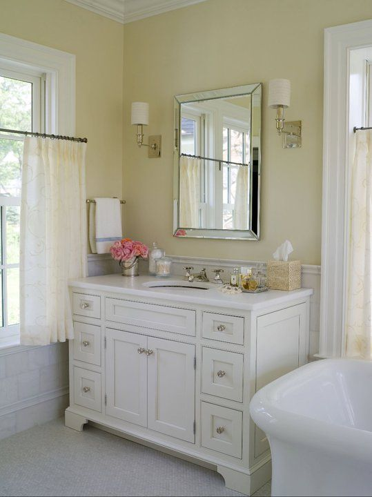 Alisberg Parker Architects   bathrooms   master bathroom  yellow walls  yellow  bathroom walls. Best 25  Pale yellow bathrooms ideas on Pinterest   Cottage style