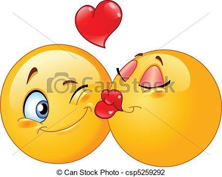 Vektor - küssende,  emoticons - Stock Illustration, Lizenzfreie Illustration, Stock Clip-Art-Symbol, Stock Clipart Piktogramm, Logo, Line Art, EPS-Bild, Bilder, Grafik, Grafiken, Zeichnung, Zeichnungen, Vektorbild, Kunstwerk, EPS Vektorkunst
