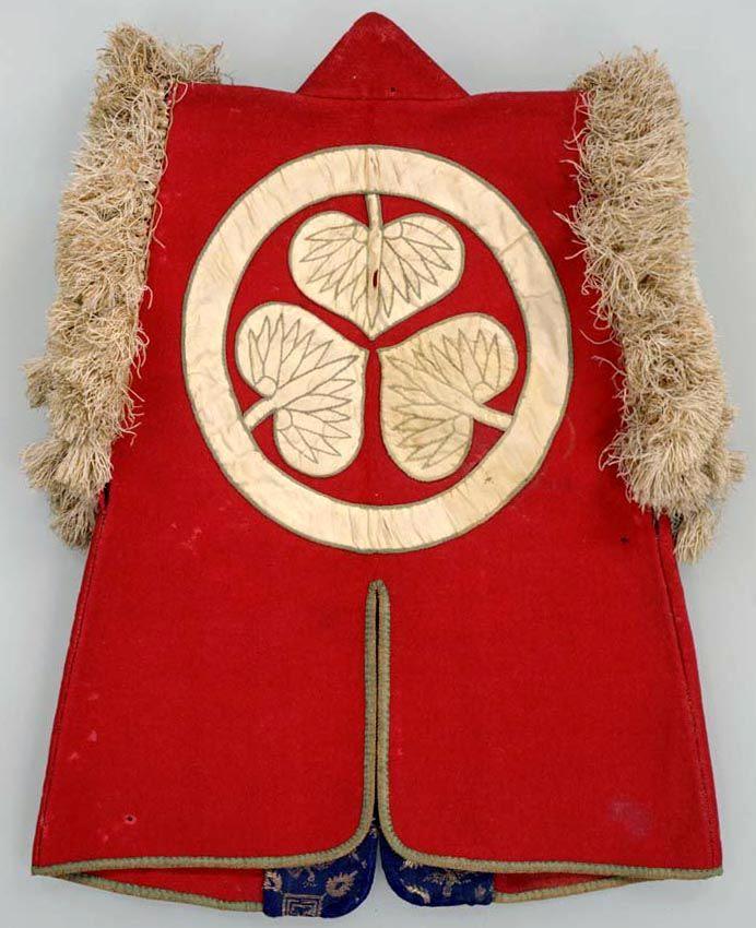 猩猩緋羅紗地葵紋付陣羽織