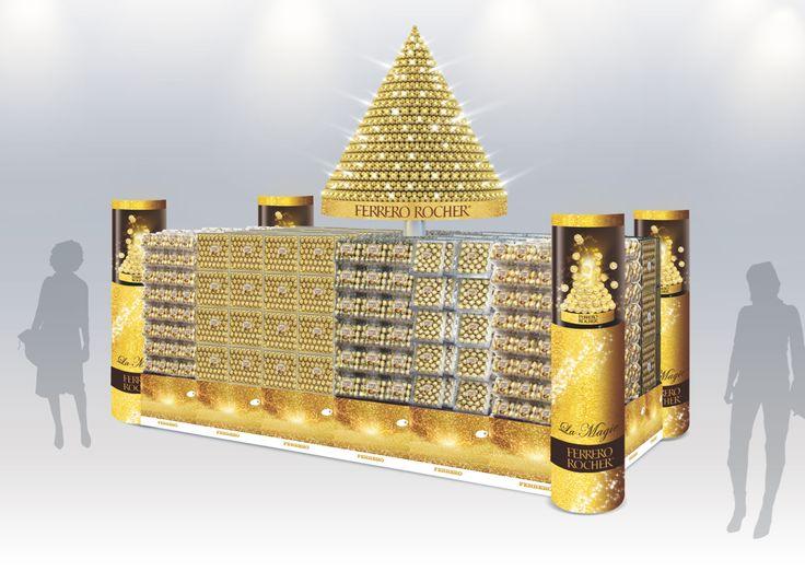 Ilot HM Ferrero Rocher Noël - LED / Vitrines