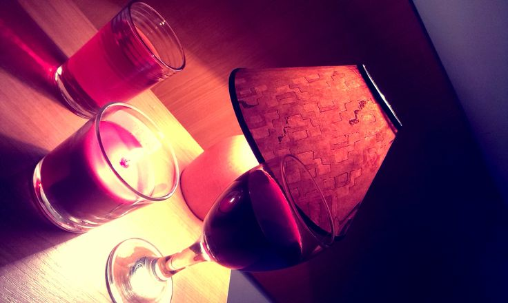 wine + candle <3