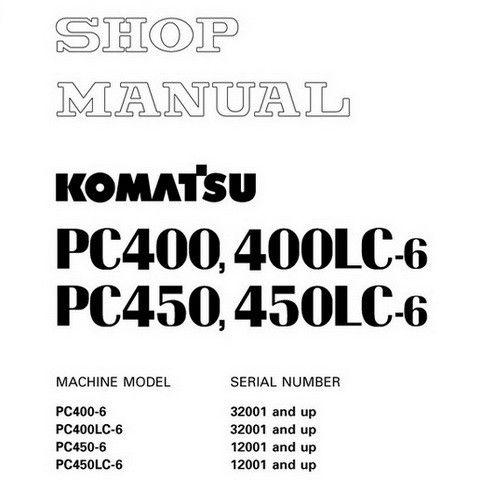 Komatsu PC400-6, PC400LC-6, PC450-6, PC450LC-6 Hydraulic